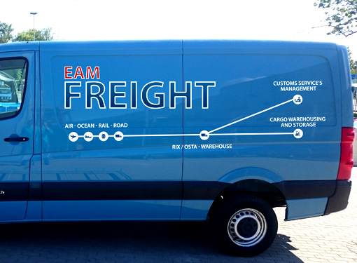 EAM Freight - Car stickers