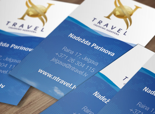 Business card design for N-Travel Ltd